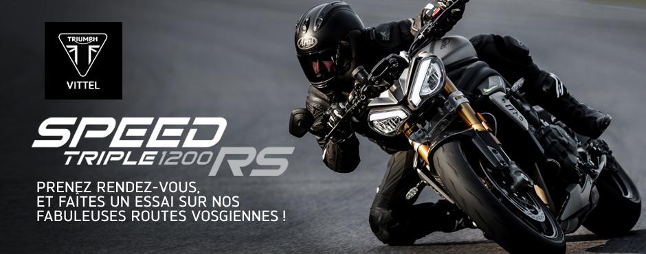 Nouveau Triumph Speed Triple RS 2021 - Reservez votre essai sur RDV chez AMR Vittel
