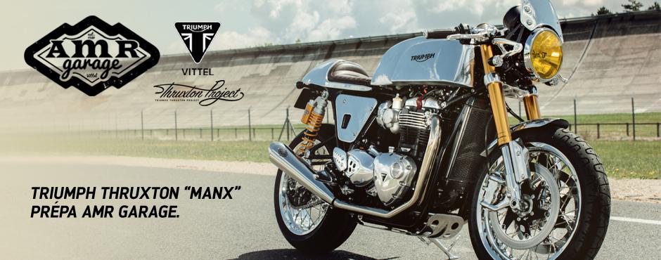 Prépa AMR Garage - Triumph Thruxton MANX