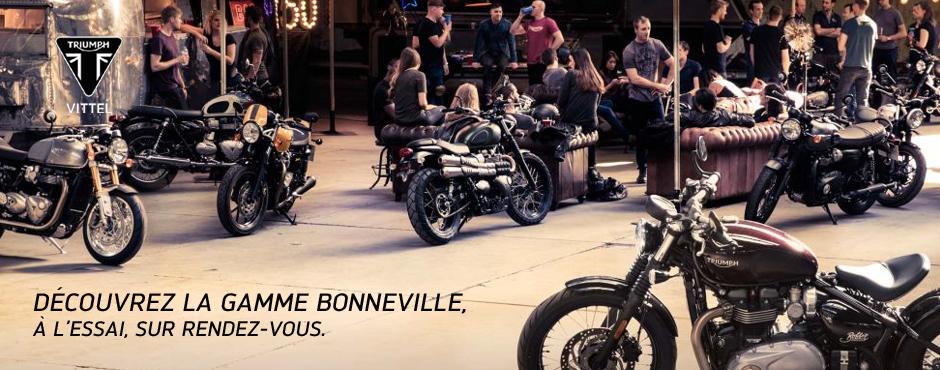 La gamme Triumph Bonneville - AMR Vittel 88